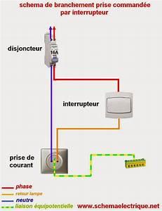Montage Prise Electrique : schema electrique prise command e par interrupteur sch ma electrique pinterest sch ma ~ Melissatoandfro.com Idées de Décoration