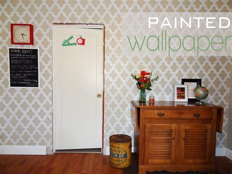 diy perfect painted wallpaper revamp homegoods