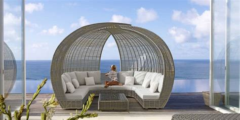 canape osier mobilier de jardin haut de gamme c 39 est lusso