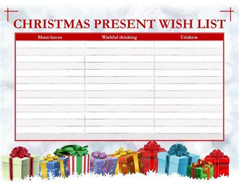 grown ups christmas  list