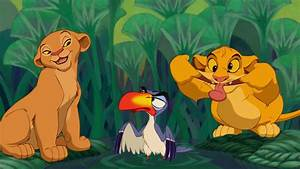 Zuzu being annoyed by Simba and Nala as they were cubs ...