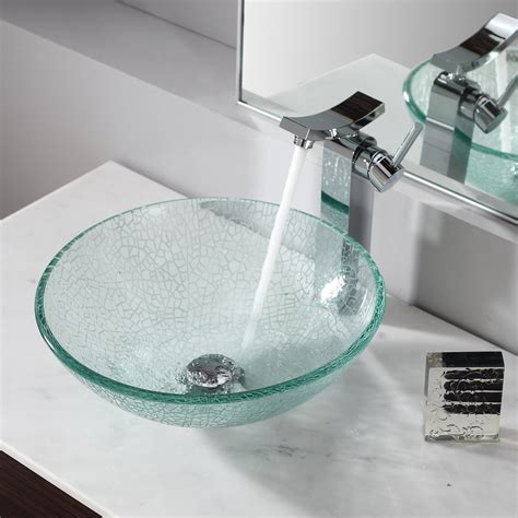 bathroom sink glass glass vessel sinks with faucets 1133
