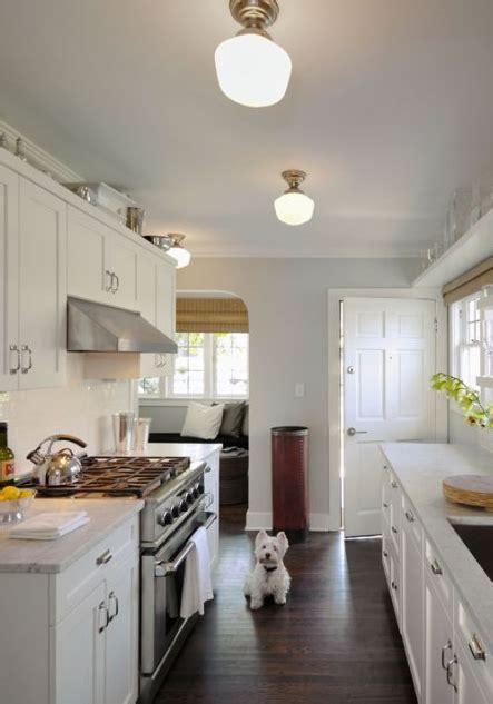White Galley Kitchen  Traditional  Kitchen Bosworth