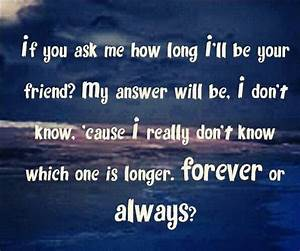 Since Forever Best Friend Quotes. QuotesGram