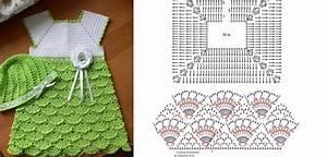 3 Patrones Crochet Vestidos Bebes