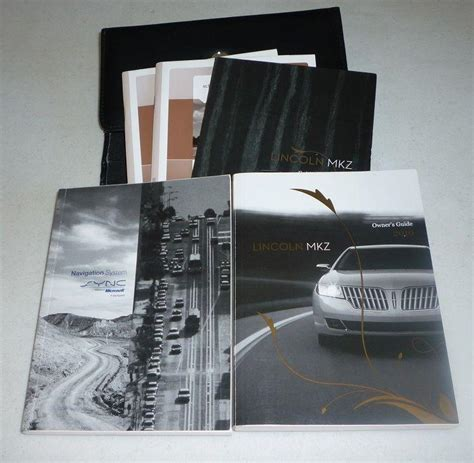 purchase  lincoln mkz owners manual set  navigation