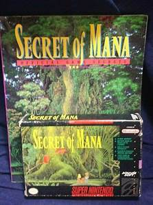 Snes Secret Of Mana Complete W Game Guide  Map  Manual