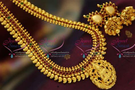 nl2701 south indian traditional temple laxmi god pendant haram ethnic gold design immitation