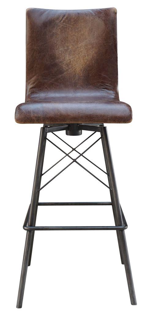 swivel leather bar stool mecox gardens