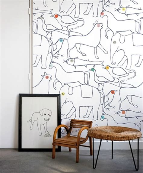 Animal Themed Wallpaper - animal themed design for rooms handmade