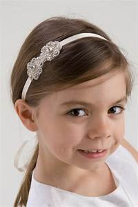 MADELINE, Flower Girl Headband, Rhinestone Headband ...