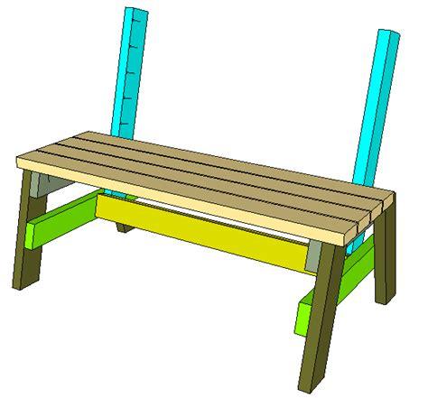 park bench table plans pdf 2x4 park bench plans plans free