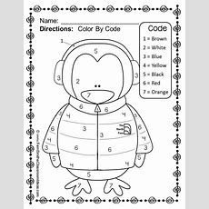 Color By Numbers Winter Know Your Numbers Worksheet Freebie  Homework To Work With Kaleb On