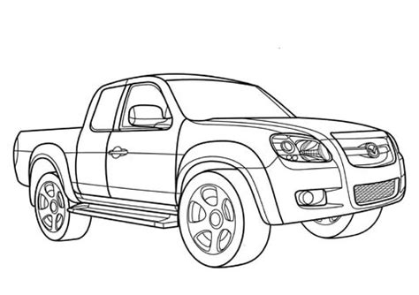 coloriage pick  mazda bt  coloriages  imprimer