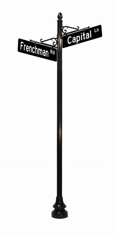 Street Sign Decorative Signs Posts Pole Lamp