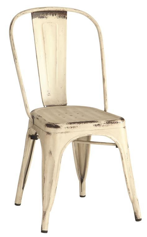 metal dining chair bar stool rustic white