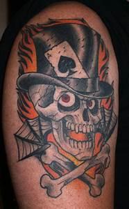 Traditional Cowboy Skull Tattoo | www.pixshark.com ...