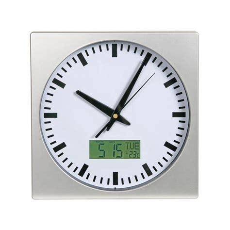 horloge murale digitale radio pilotee horloge murale calendrier num 233 rique thermom 232 tre achat vente horloge cdiscount