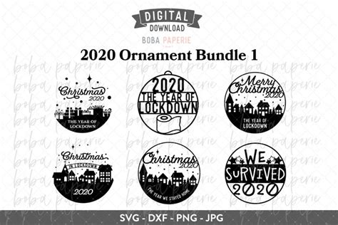 How to make a svg christmas ornament for free? 2020 Christmas Ornament Bundle SVG (940612) | Cut Files ...