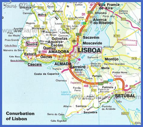 map  lisbon toursmapscom