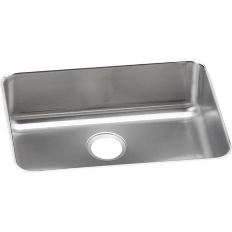 stainless steel undermount kitchen sinks single bowl elkay lustertone undermount stainless steel 26 in single 9787
