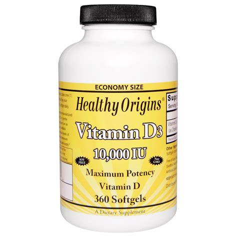 vitamin d l amazon healthy origins vitamin d3 10 000 iu 360 softgels