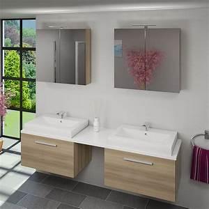 Waschtisch Mit 2 Waschbecken : waschtisch mit waschbecken unterschrank city 206 200cm eiche hell ~ Sanjose-hotels-ca.com Haus und Dekorationen