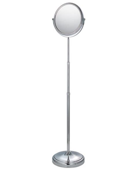 Bathroom Mirror Stand by Floor Stand Adjustable Mirror Chrome In Vanity Mirrors