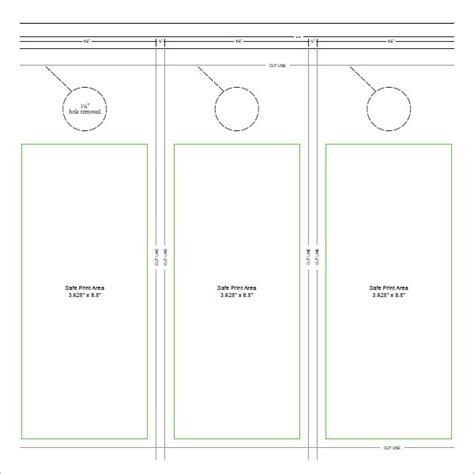 door hanger template word 15 door hangers sle templates