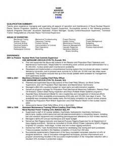 resume template sle electrician resume us navy resume sle