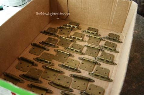 spray paint cabinet hinges updating rv cabinet hardware the new lighter life