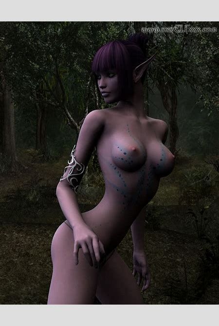 Naked Elf Girl In The Forest