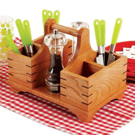 kitchen tool caddy silverware caddy woodworking plan from wood magazine