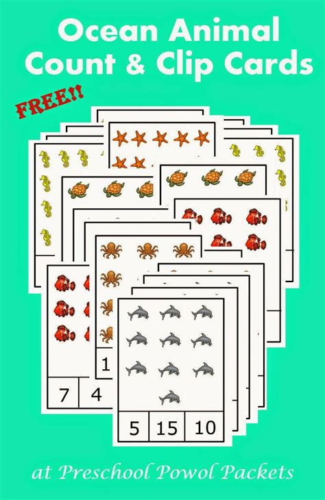 free preschool animals count amp clip cards count 686 | 6b840c944d6b5d315ca8835a329af82d