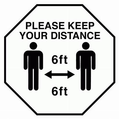 Decal Distance Social Keep Distancing X16 Signage