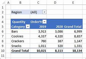 Get Pivot Chart Title From A Report Filter Cell Excel