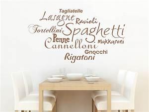 Sprüche Für Die Küche : wandtattoo pasta sorten spaghetti lasagne rigatoni ~ Watch28wear.com Haus und Dekorationen