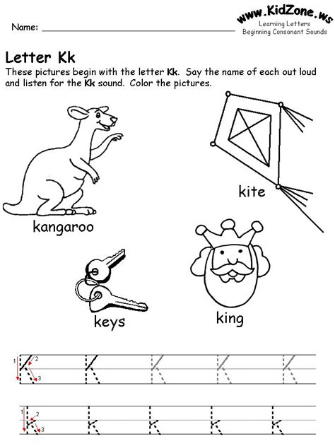 Learning Letters Worksheet  Educating The Future  Pinterest  Letter K, Letter Worksheets And