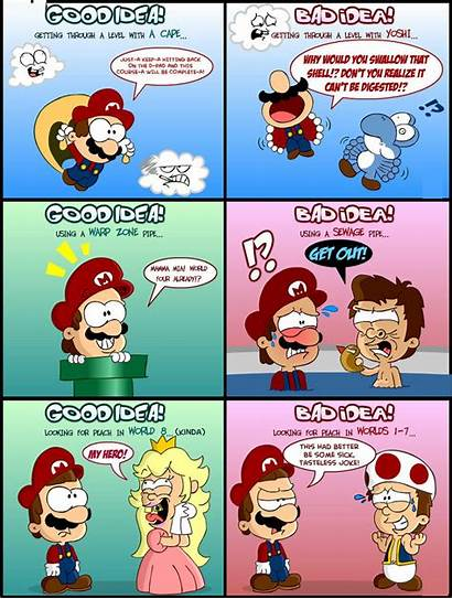 Mario Funny Idea Bad Pinnacle Humorous Ten