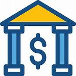 Bank Icon Icons Banks Business Deposits Into
