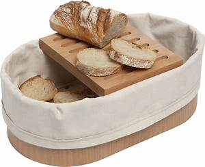 Corbeille A Pain : corbeille pain avec panche d couper 36 x 20 cm bois naturel blanc coton l 39 atelier du ~ Teatrodelosmanantiales.com Idées de Décoration