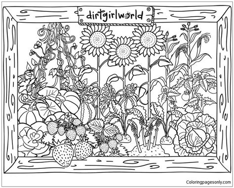 dirt girl world garden coloring page  coloring pages