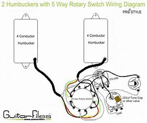 2 Humbuckers With 5 Way Rotary Switch Wiring Diagram In 2019
