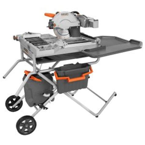 home depot ridgid tile saw ridgid 10 in variable speed commercial tile saw r4090