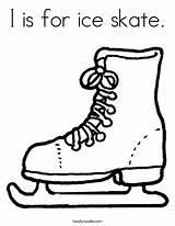 Ice Outline Skate Coloring Popular sketch template