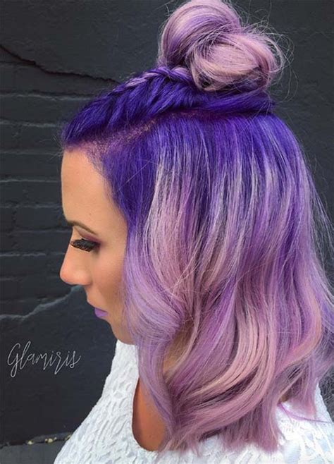 purple hair color for hair 50 lovely purple lavender hair colors purple hair