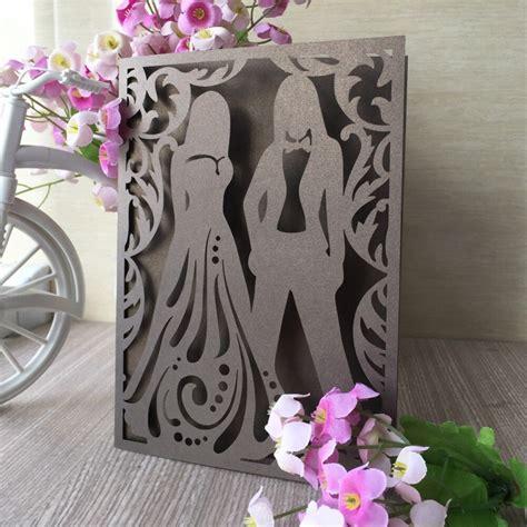 30pcs/lot Exquisite Laser Cut Wedding Party Card