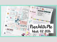 EP09 Plan With Me Week 02 2016 Muji Planner