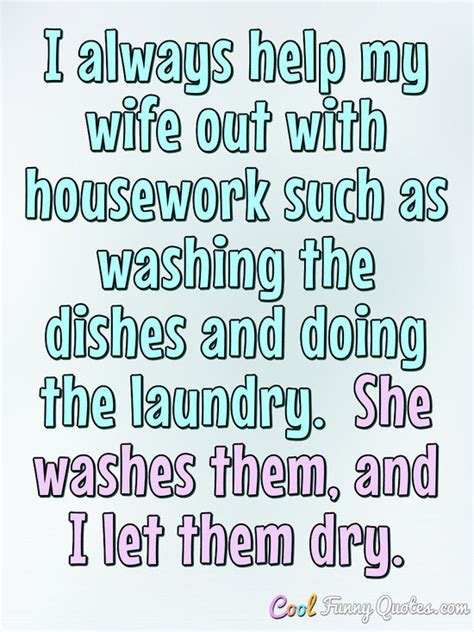 wife   housework   washing