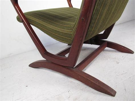 mid century modern walnut frame rocking chair for sale at